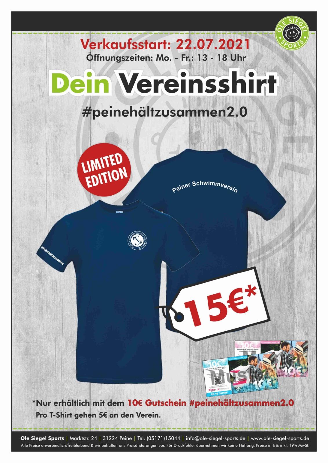 PSV-TShirt #peinehältzusammen2.0