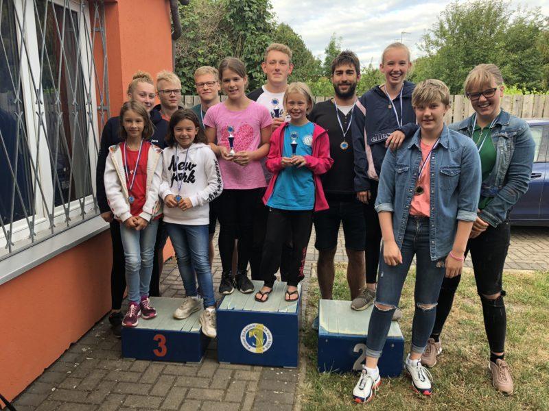 Siegerehrung Mehrkampfwertung Eulenschwimmfest